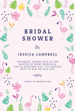 Fun Flamingo - Bridal Shower Invitation