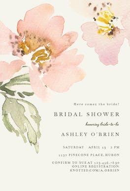 Garden roses - Bridal Shower Invitation