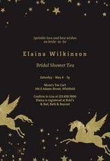 Golden Unicorn - Bridal Shower Invitation