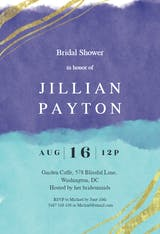 Happy color strokes - Bridal Shower Invitation