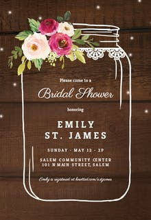 Jar of love - Bridal Shower Invitation