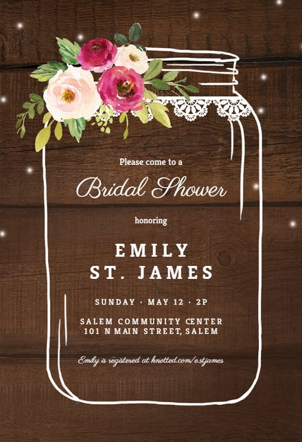 Bridal Shower Invitation Templates Free Greetings Island