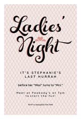Ladies Night - Bridal Shower Invitation