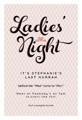 Ladies Night - Bridal Shower Invitation Template