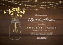Lights of love - Bridal Shower Invitation