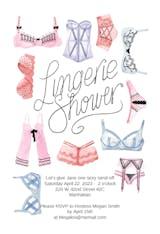 Lingerie Shower - Bridal Shower Invitation