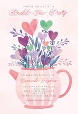 Lovely tea pot - Bridal Shower Invitation