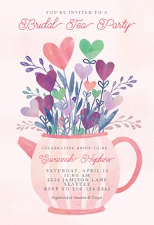 Lovely tea pot - Bridal Shower Invitation