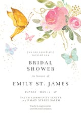 Magical Butterflies - Bridal Shower Invitation