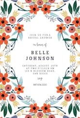 Orange Floral - Bridal Shower Invitation