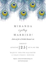 Peacock Feather - Bridal Shower Invitation