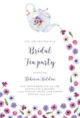 Pouring Tea - Bridal Shower Invitation