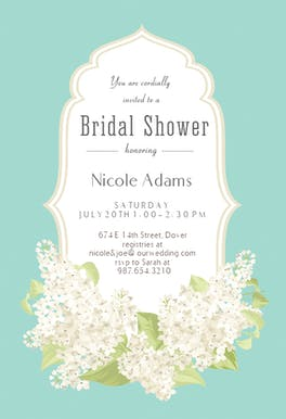 Romantic Frame - Bridal Shower Invitation