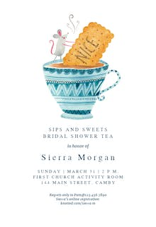 Sips and Sweets - Bridal Shower Invitation