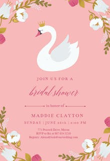 Swan - Bridal Shower Invitation