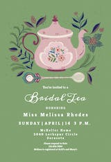 Tasteful Teapots - Bridal Shower Invitation