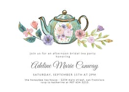 Tea pots - Bridal Shower Invitation
