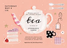 Tea Party - Bridal Shower Invitation