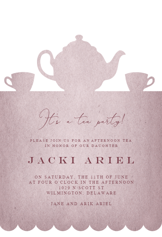 Tea Party Invite Template from images.greetingsisland.com