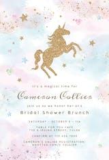 Unicorn Magic Glitter - Bridal Shower Invitation