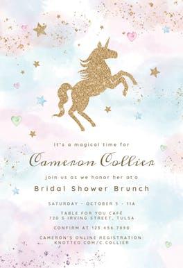 Unicorn Magic - Bridal Shower Invitation