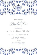Vintage floral tea - Bridal Shower Invitation