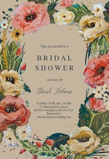 Wild Roses - Bridal Shower Invitation