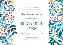 Blue & Red - First Communion Invitation