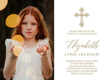 Criss Cross - First Holy Communion Invitation