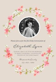 Floral Communion - Invitación De Comunión
