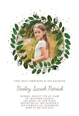 White Bloom - First Holy Communion Invitation