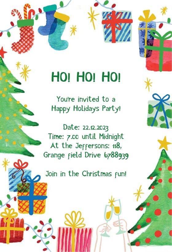 Christmas Party Invitation Templates (Free) | Greetings Island