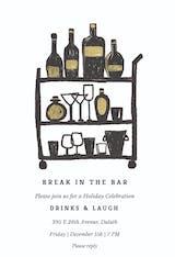 Break in the bar - Christmas Invitation