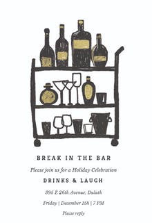 Break in the bar - Christmas Invitation