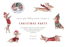 Christmas Dog - Holidays Invitation
