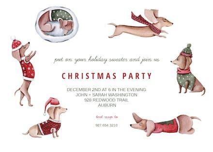 Christmas Invitation Template Free