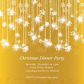 Falling Stars - Christmas Invitation