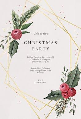 Geometric frame - Christmas Invitation