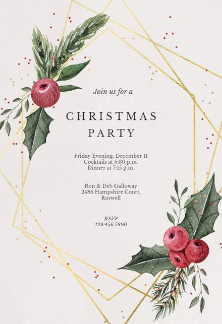 Christmas Invitations Free Template.Christmas Party Invitation Templates Free Greetings Island