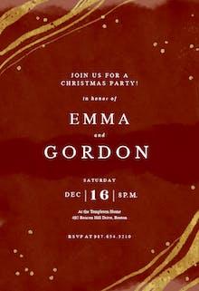 Happy color strokes - Christmas Invitation