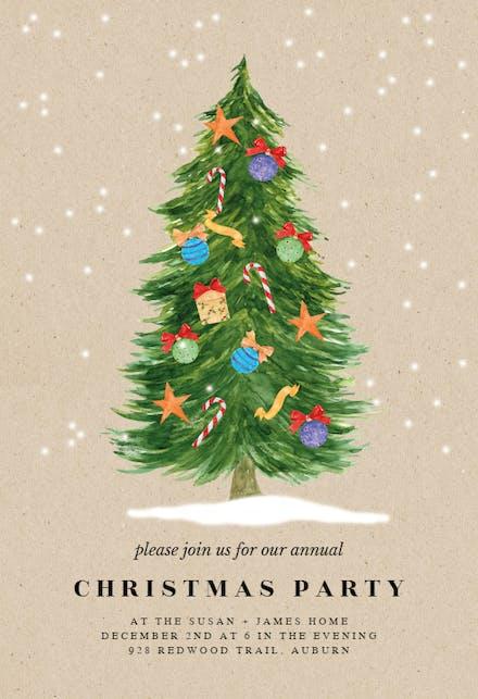 Invitaciones De Navidad Gratis Greetings Island
