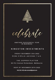 Holiday Party - Christmas Invitation