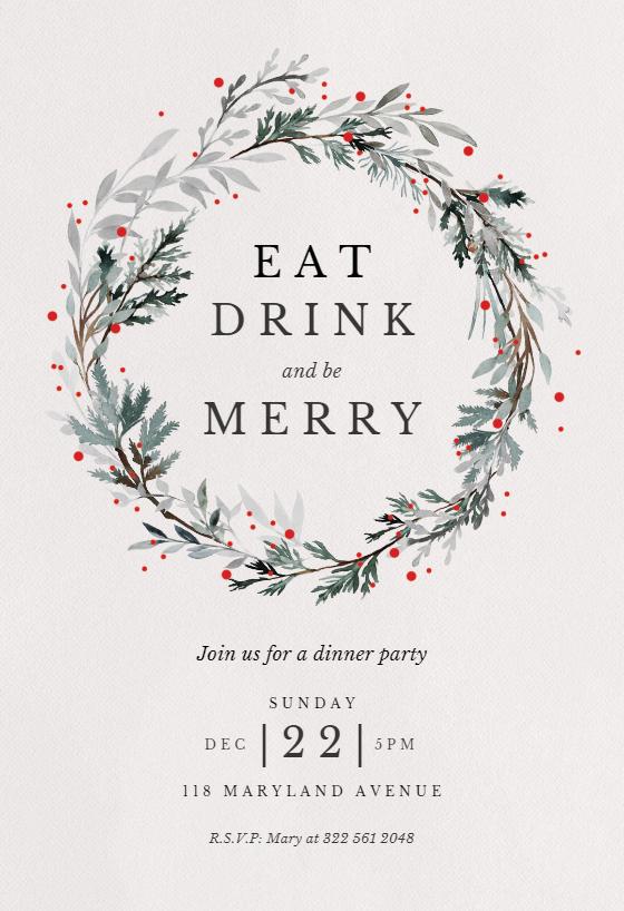 photo regarding Printable Christmas Invitations named Xmas Occasion Invitation Templates (Absolutely free) Greetings Island