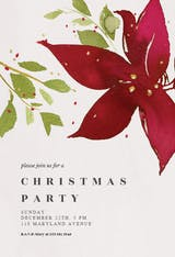 Holidays bloom - Christmas Invitation
