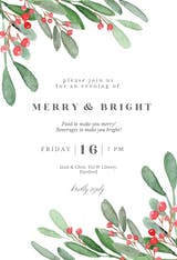 Holidays greenery - Christmas Invitation