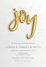 Joyful Balloons - Christmas Invitation