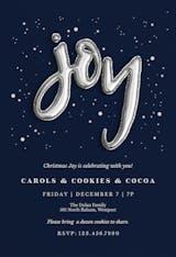Joyful Balloons - Christmas Invitation