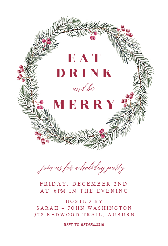Christmas Party Invitation Templates (Free)