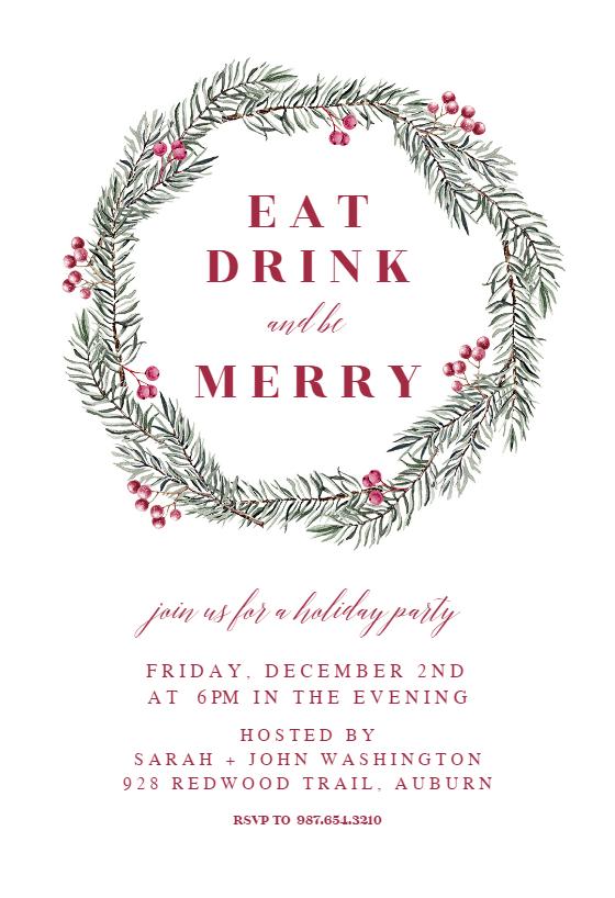 Christmas Party Invitation Templates (Free)