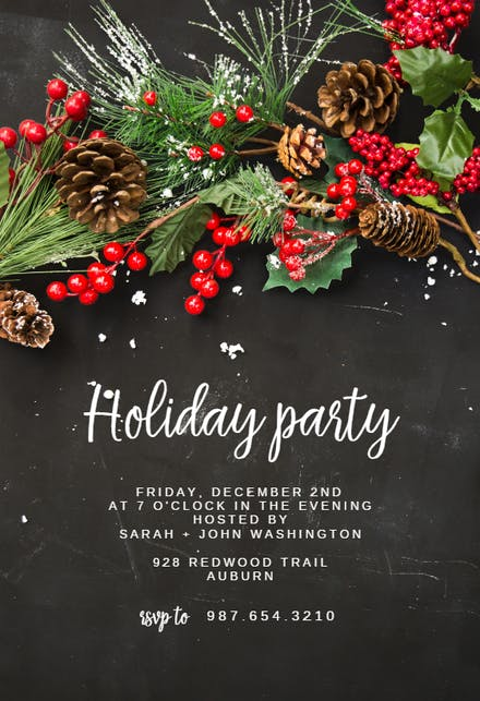 Christmas Invitation Templates 2020 Free Christmas Party Invitation Templates (Free) | Greetings Island